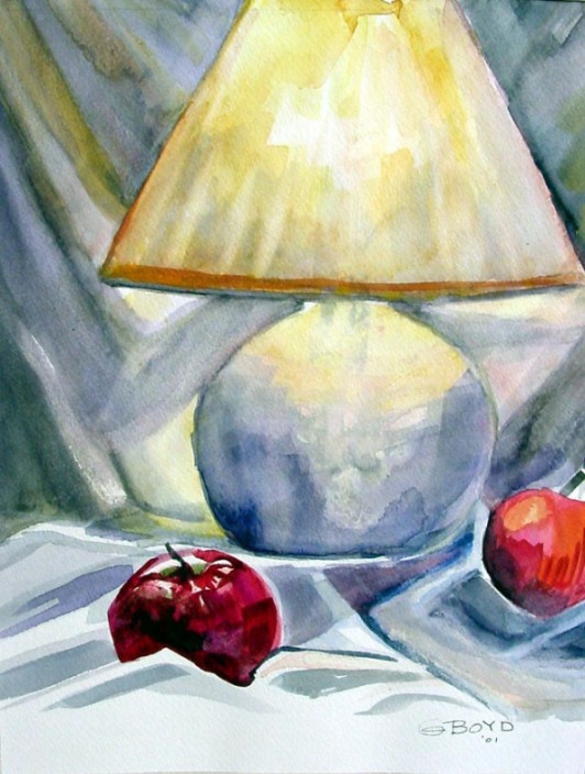 Lamp with Apples
